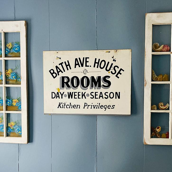 Bath Ave Guest House Sign